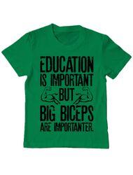 Tricou ADLER copil Big biceps Verde mediu