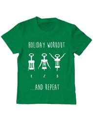 Tricou ADLER copil Holiday workout Verde mediu