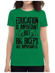 Tricou ADLER dama Big biceps Verde mediu