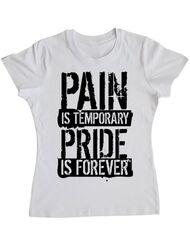 Tricou ADLER dama Pain and pride Alb