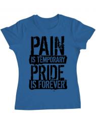 Tricou ADLER dama Pain and pride Albastru azuriu