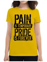 Tricou ADLER dama Pain and pride Galben
