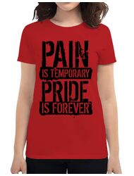 Tricou ADLER dama Pain and pride Rosu