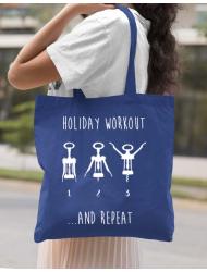 Sacosa din panza Holiday workout Albastru regal