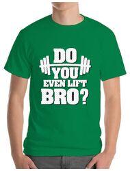 Tricou ADLER barbat Do you even lift Verde mediu
