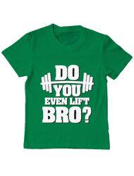 Tricou ADLER copil Do you even lift Verde mediu