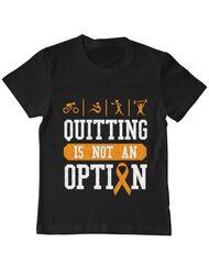 Tricou ADLER copil Quitting is not an option Negru