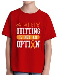 Tricou ADLER copil Quitting is not an option Rosu