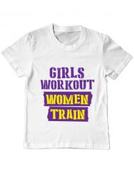 Tricou ADLER copil Women train Alb