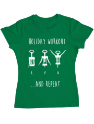 Tricou ADLER dama Holiday workout Verde mediu