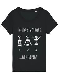 Tricou STANLEY STELLA dama Holiday workout Negru