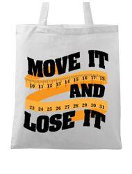 Sacosa din panza Move it and lose it Alb