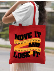 Sacosa din panza Move it and lose it Rosu