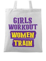 Sacosa din panza Women train Alb