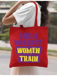 Sacosa din panza Women train Rosu