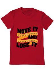 Tricou ADLER barbat Move it and lose it Rosu