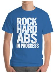 Tricou ADLER barbat Rock hard abs Albastru azuriu