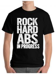 Tricou ADLER barbat Rock hard abs Negru