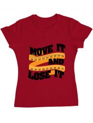 Tricou ADLER dama Move it and lose it Rosu