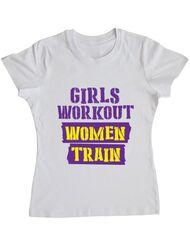 Tricou ADLER dama Women train Alb