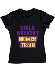 Tricou ADLER dama Women train Negru