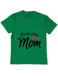 Tricou ADLER copil First time mom Verde mediu