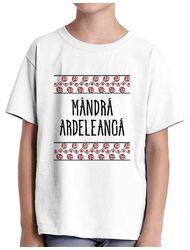 Tricou ADLER copil Mandra ardeleanca Alb