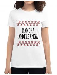 Tricou ADLER dama Mandra ardeleanca Alb
