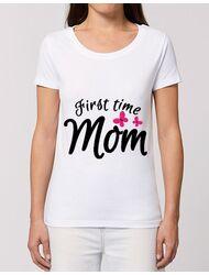 Tricou STANLEY STELLA dama First time mom Alb