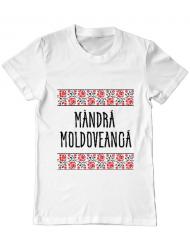 Tricou ADLER barbat Mandra moldoveanca Alb