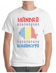 Tricou ADLER barbat Mandra romancuta Alb