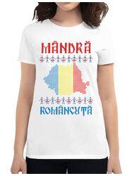 Tricou ADLER dama Mandra romancuta Alb