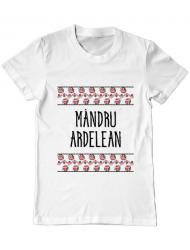 Tricou ADLER barbat Mandru ardelean Alb