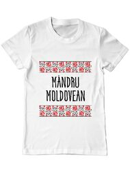 Tricou ADLER barbat Mandru moldovean Alb