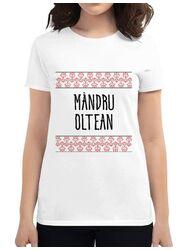 Tricou ADLER dama Mandru oltean Alb