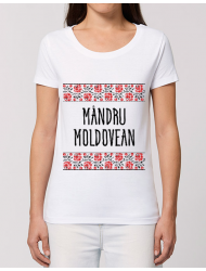 Tricou STANLEY STELLA dama Mandru moldovean Alb