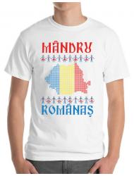 Tricou ADLER barbat Mandru romanas Alb