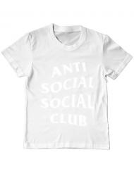Tricou ADLER copil Anti social Alb