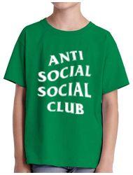 Tricou ADLER copil Anti social Verde mediu