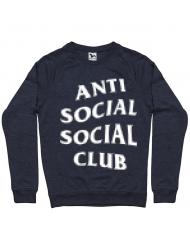 Bluza ADLER barbat Anti social Denim inchis