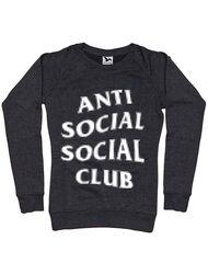 Bluza ADLER dama Anti social Negru melanj