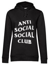 Hoodie dama cu gluga Anti social Negru