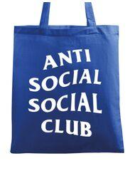 Sacosa din panza Anti social Albastru regal