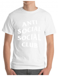 Tricou ADLER barbat Anti social Alb
