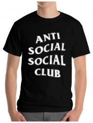 Tricou ADLER barbat Anti social Negru