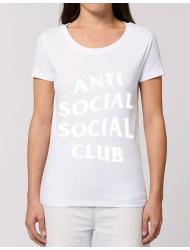Tricou STANLEY STELLA dama Anti social Alb