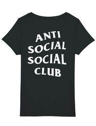 Tricou STANLEY STELLA dama Anti social Negru
