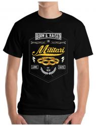 Tricou ADLER barbat Militari Negru