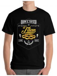Tricou ADLER barbat Titan Negru