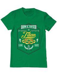 Tricou ADLER barbat Titan Verde mediu